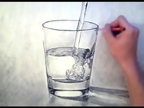Drawn water droplets cup Music acrylic ART:  87