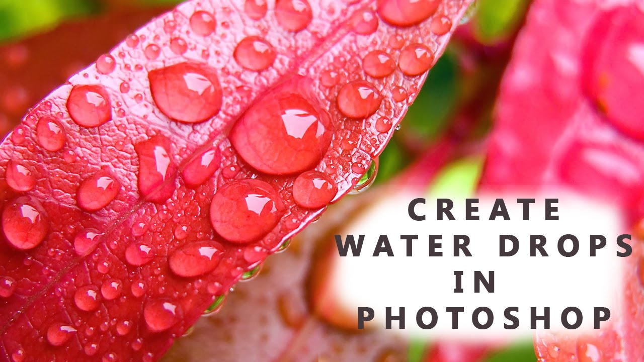 Drawn water droplets cup Photoshop  make How Realistic
