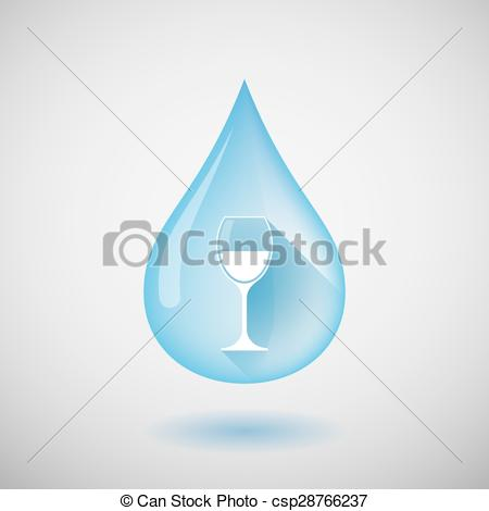 Drawn water droplets cup Of wine icon water with