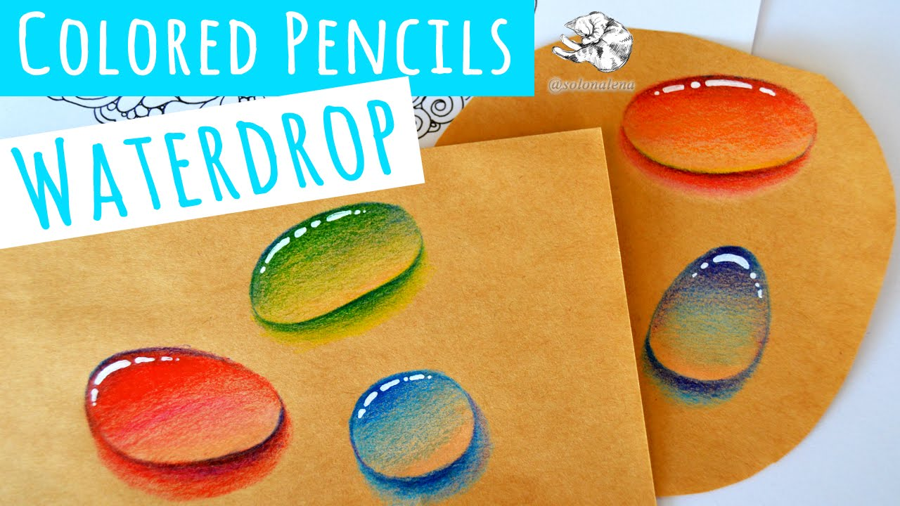 Drawn water droplets doodle Video with Real Colored