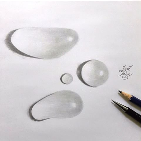 Drawn water droplets dropping #arts Drawing videos Instagram water