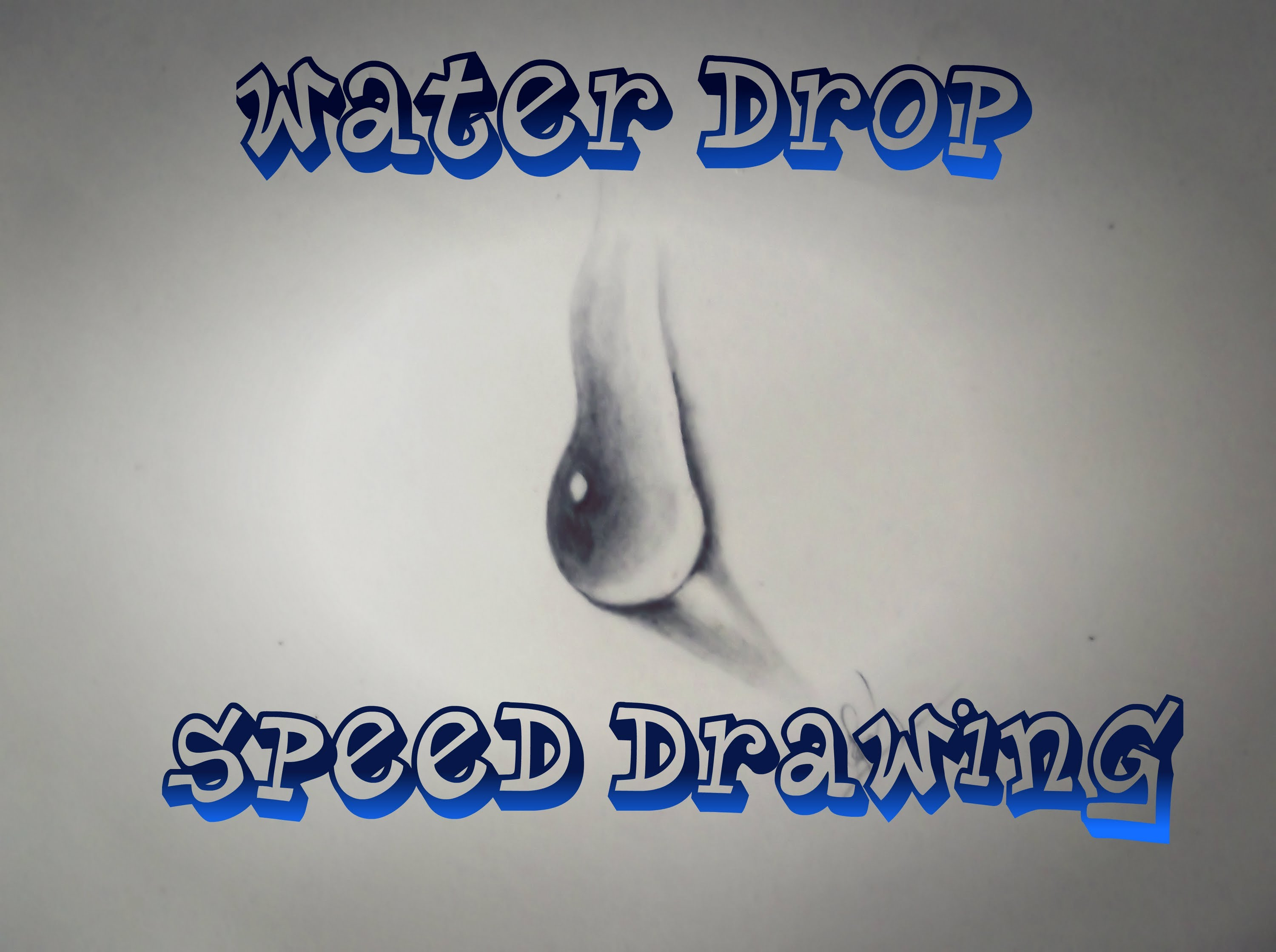 Drawn water droplets easy (easy) to drop (easy) How