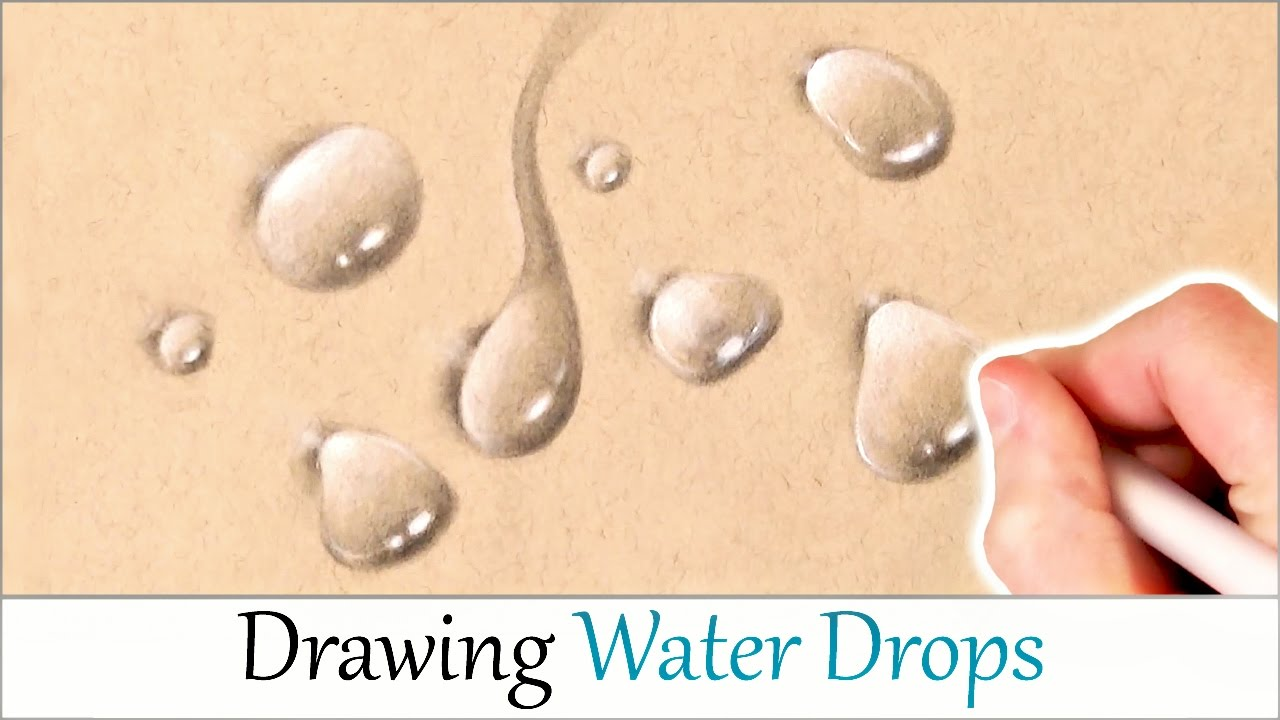 Drawn water droplets easy  Easy By Step DRAW
