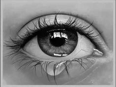 Drawn water droplets eye teardrop  de YouTube realista MFA