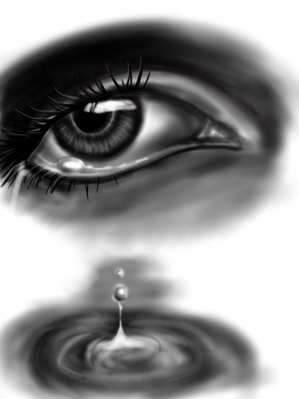Drawn water droplets eye teardrop Drop drop Tear by Jeageractive