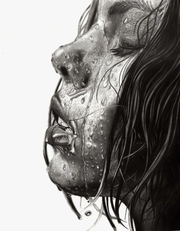 Drawn water droplets face drawing Pencil Drawings Pinterest on 30
