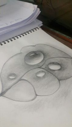Drawn tears water drop Droplets sketch howto to leaf