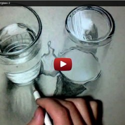 Drawn glasses realistic Water 2 Pearltrees Glass 3D