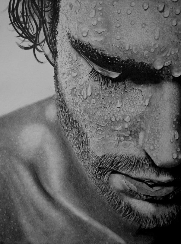 Drawn portrait men's face Drawings Drawings by Realistic ideas