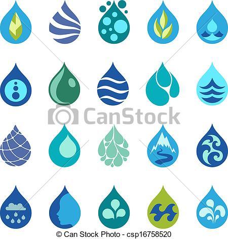 Waterdrop clipart graphic #4