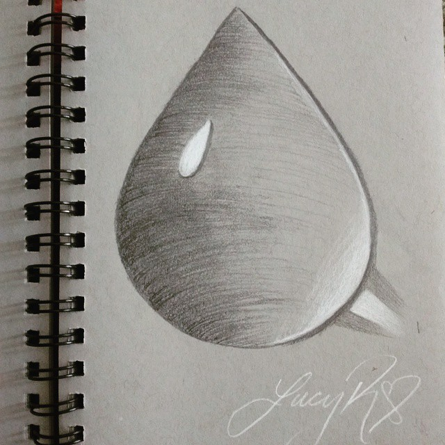 Drawn waterdrop love By Instagram lucy water profile