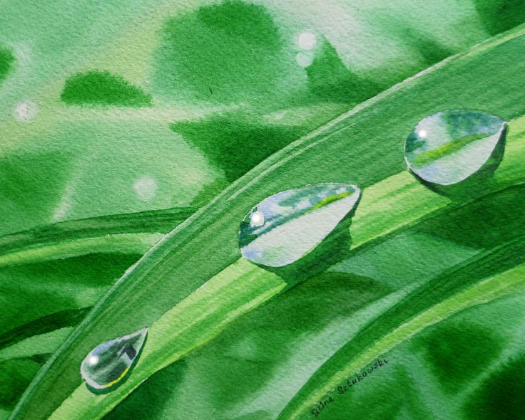 Drawn water droplets paper tutorial Watercolour 40 more Water Pinterest