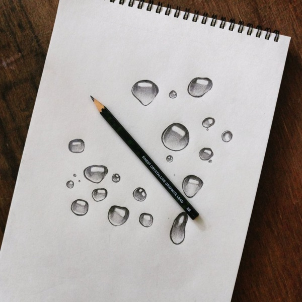 Drawn water droplets paper tutorial Drops and 40 And drawings
