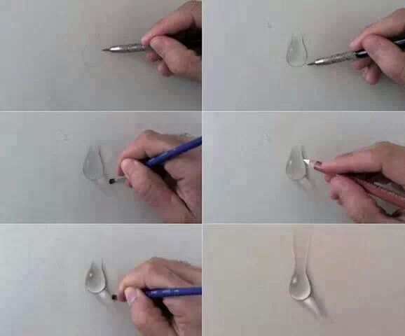 Drawn water droplets paper tutorial Best & more Tutorials &