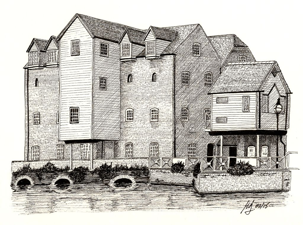 Drawn mill Ink and Avon