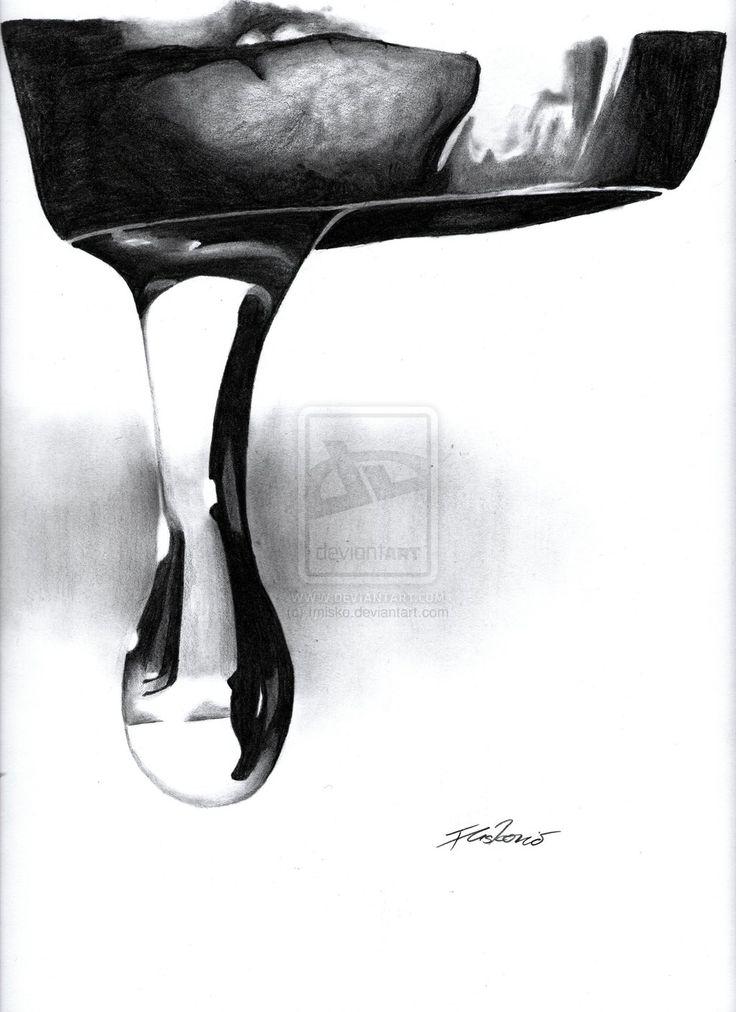 Drawn waterdrop black and white Water Drop Drawing drawings art