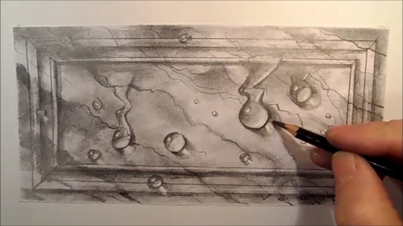 Drawn water droplets photorealism Marble YouTube drops  Time