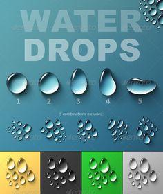 Drawn water droplets rain Vidéo Voici une pour