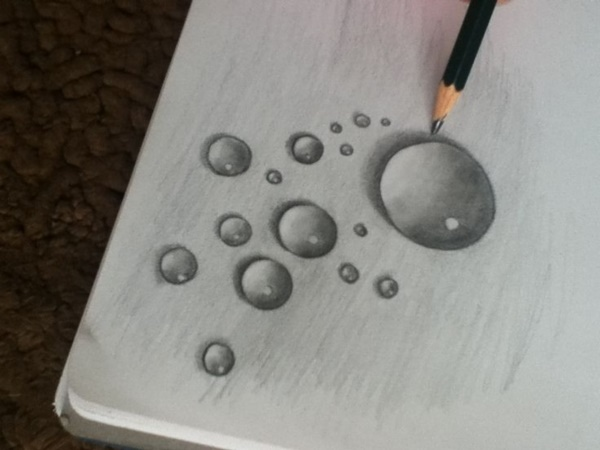 Drawn water droplets real water And drops Drawings Drops water