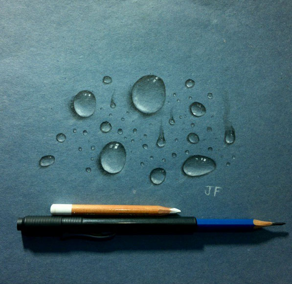 Drawn water droplets realistic Drawing Ferreira Ferreira by drops