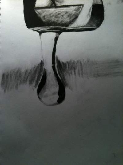 Drawn waterdrop reflection Drop  Ink Teen Teen