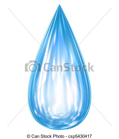 Drawn waterdrop reflection Drop Falling water with with