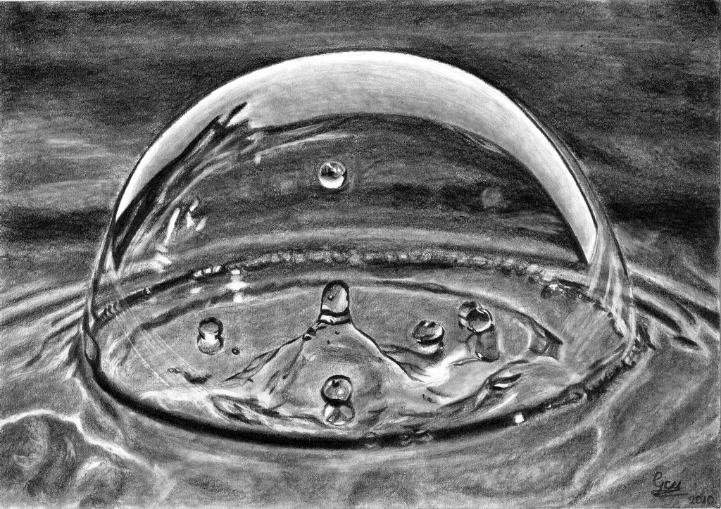 Drawn waterdrop reflection By Water DuskEyes Drawings Drops
