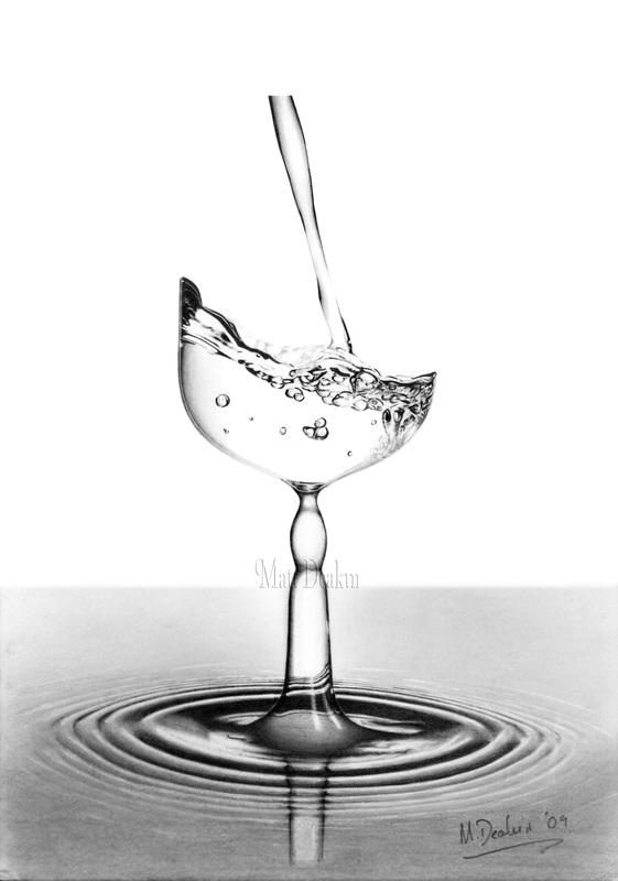 Drawn water droplets ripple It? Still Life is Deakin