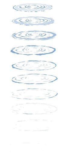 Drawn water droplets ripple Draw Water Ripples ahead week