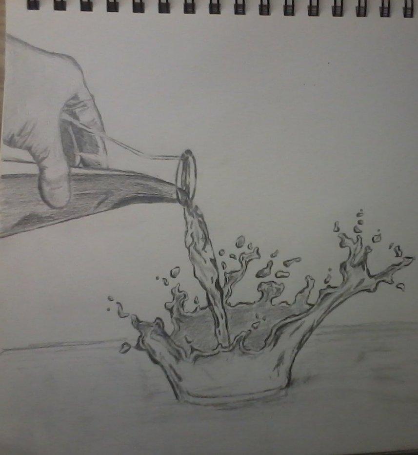 Drawn waterdrop splashing drawing Images Drops Of water splash