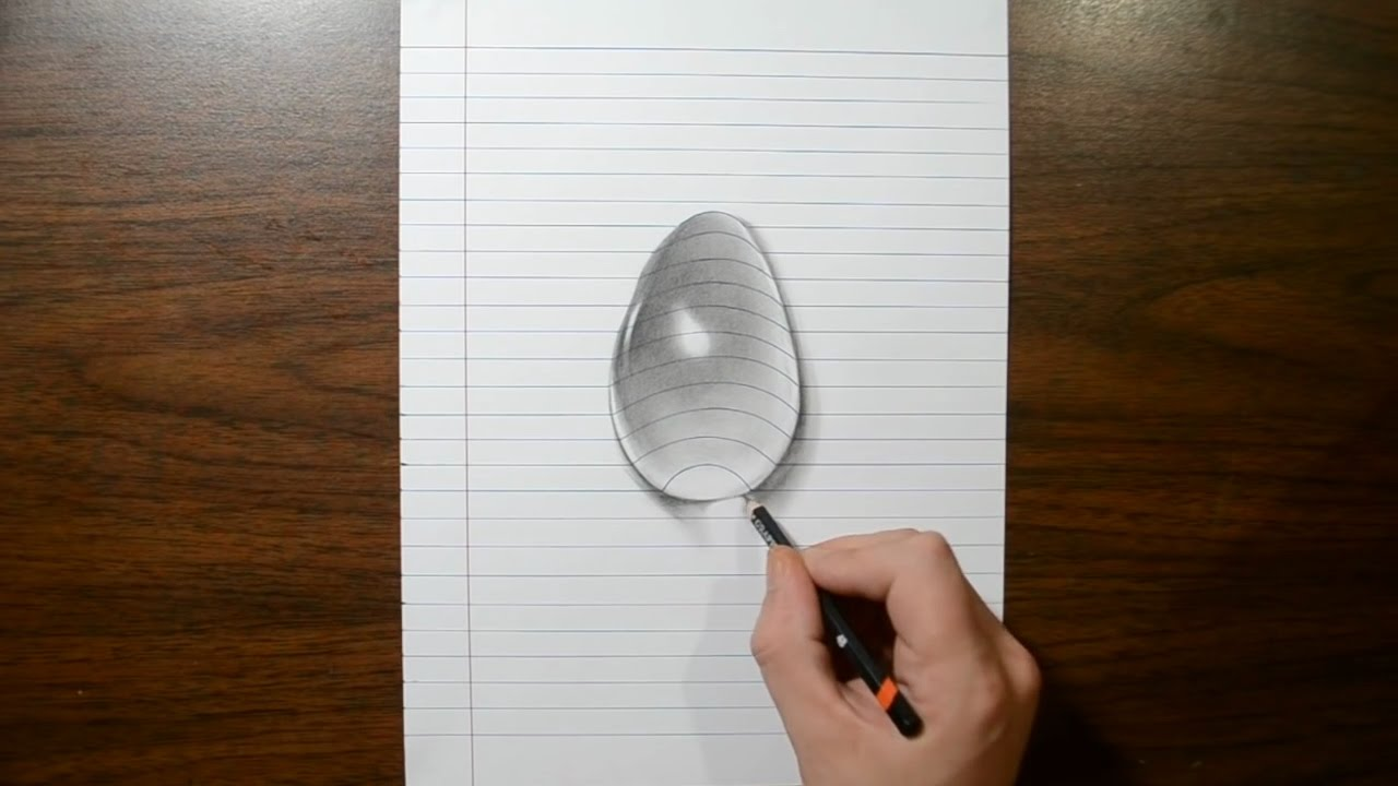 Drawn water droplets step by step How draw 3D step step