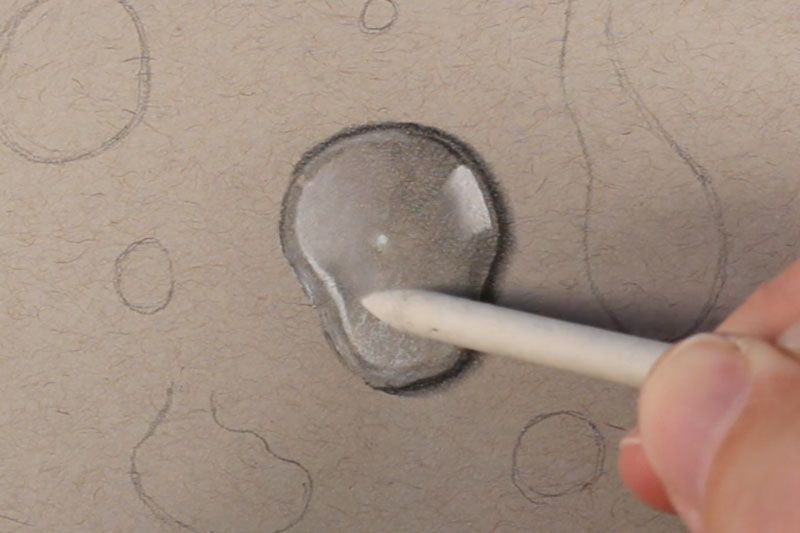 Drawn water droplets step by step Water applications of How Blending