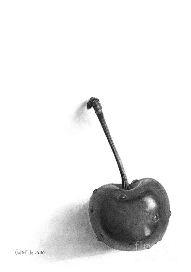 Drawn still life cherry Andrea Pontillo Pencil by Andrea