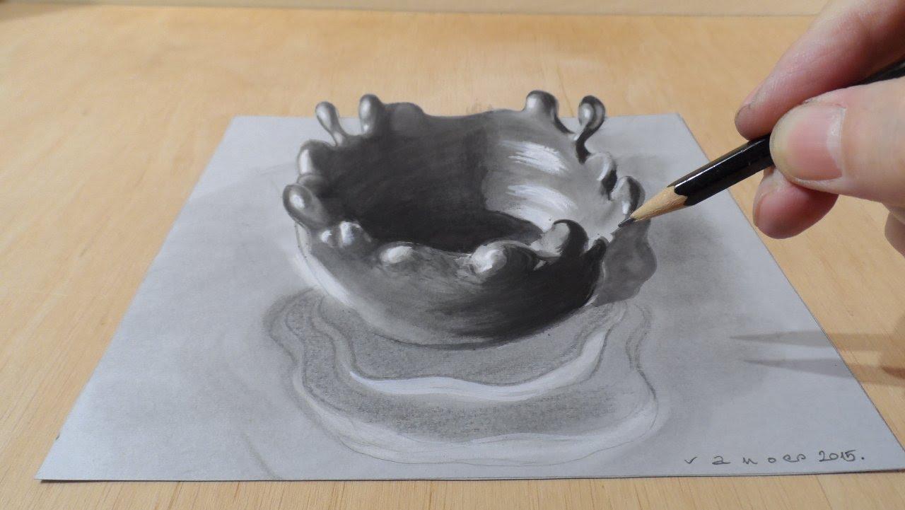Drawn waterdrop splashing drawing Splash Art Drawing YouTube How