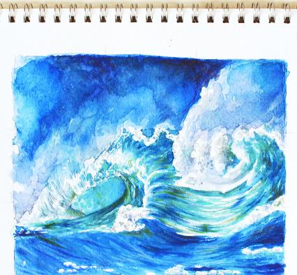 Drawn waterdrop splashing drawing Drops draw water Painting Water