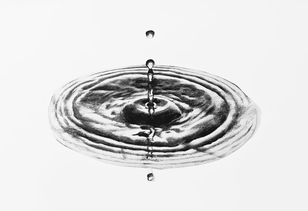 Drawn waterdrop PitGraf 3D illusion DeviantArt drawing