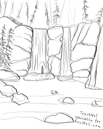 Drawn waterfall COM step draw How waterfall