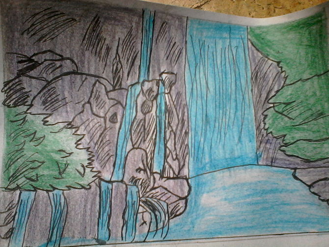 Drawn waterfall Months a How ago to