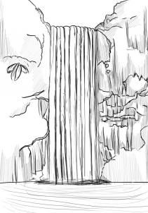 Drawn waterfall Draw 25+ waterfall a #waterday