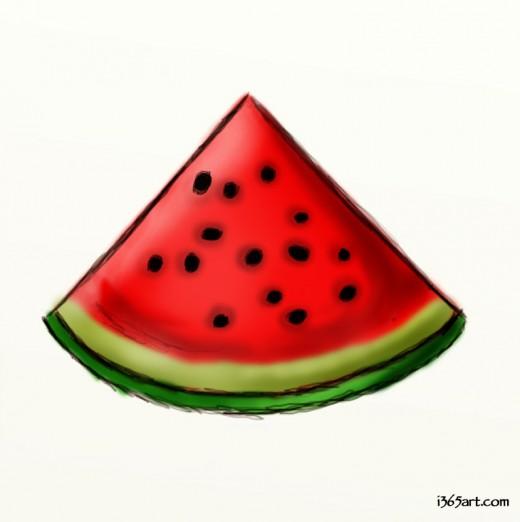 Drawn watermelon #3