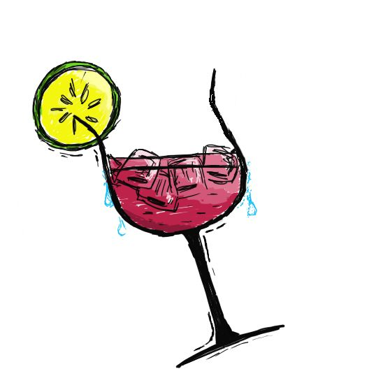 Drawn watermelon been drinking By watermelon drawing picture maclu2iaf