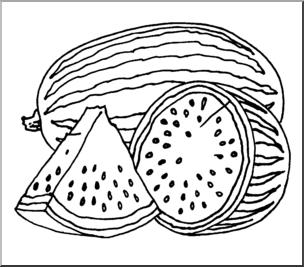 Drawn watermelon Abcteach Realistic Watermelon Art: preview