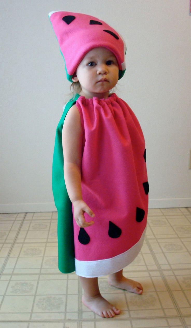 Drawn watermelon fancy dress Baby Costume Costume Halloween Pink