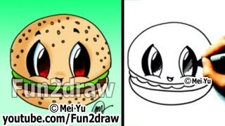 Drawn strawberry fun2draw Drawing Best Drawing Tutorial Hamburger