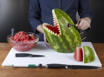 Drawn watermelon large Or vegetable marbles knife Carvings