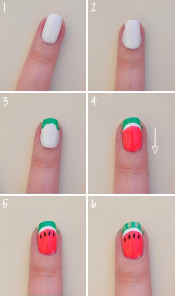 Drawn watermelon skin Pinterest nail Best nails! designs