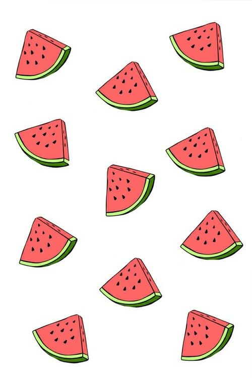 Drawn background watermelon Watermelon wallpaper  ideas Watermelon