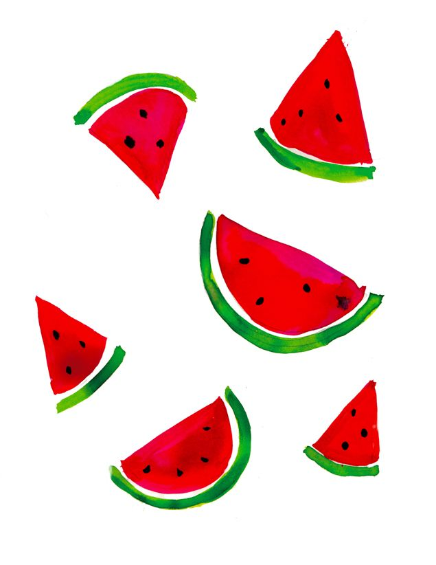 Drawn background watermelon Watermelon print Watermelon 25+ sunbird