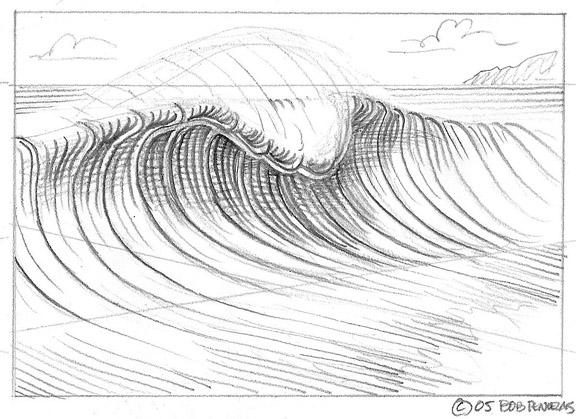 Drawn wave Draw Surf Of A art