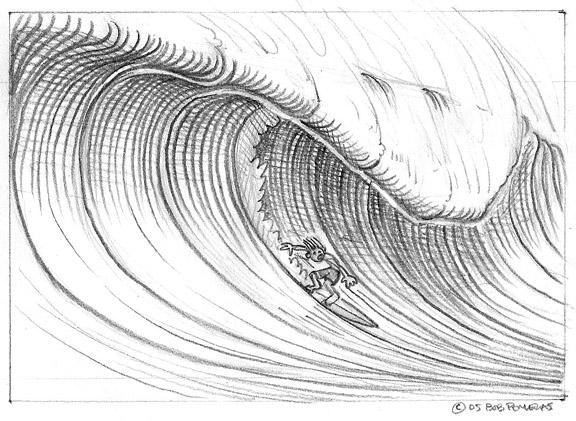 Drawn wave Draw Big Of A wave